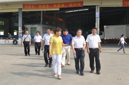政法委书记刘庆声莅临中通快递海口公司视察指导工